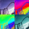 """""""Coaster in Color"""" loops of the Tidal Wave (ocean city maryland) (delmarvausa) Tags: color oceancitymaryland trimpers trimpersrides oceancitymd colorful rollercoasters coaster colors colorart trimpersamusementpark ocmd loops tidalwave rollercoaster alteredart artistic perspective"""