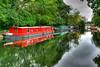 Regent's Canal (bekajma19) Tags: landcsapes red clouds hdr nature rivers england regentscanal london regents canal boats water reflections islington nikon d3100 towpath