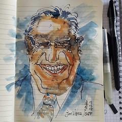 Jim Vance pour #JKPP #sketch #portrait (dege.guerin) Tags: instagramapp square squareformat iphoneography uploaded:by=instagram