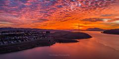 December Dawn (Eric Dugan) Tags: aerialphotography burn burning sky dawn glencove carquinezstrait water clouds decemb