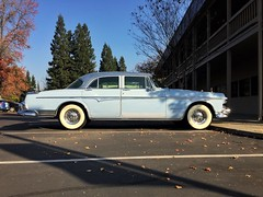 Winter Blue (misterbigidea) Tags: winter lifestyle urban forwardlookstyling chrysler spaceage sleek dailydriver streetview parked afternoon blue hotwheels car auto vintage classic style design futuristic 1955 imperial