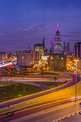 Road into the Modern World (sidd_photography) Tags: architecture downtown riyadh fasliyahtower design travel destination aerial photography location sky urban uae tourism marina skyline nature city sunset dusk dawn path creative landscapes modern world ksa saudi arabia looking down