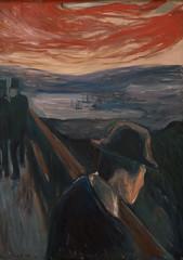 Edvard Munch, Sick Mood at Sunset: Despair, 1892 6/26/17 #sfmoma (Sharon Mollerus) Tags: edvardmunchbetweentheclockandthebedexhibit sfmoma sanfranciscomuseumofmodernart sanfrancisco california unitedstates us