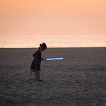 Little Girl getting into The Force on Venice Beach, CA thumbnail