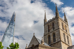 Cathedrals of the Past and Future (Jon Ariel) Tags: southwarkcathedral london church uk england shard