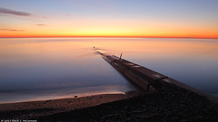 The Pier (David C. McCormack) Tags: eos6d environment greatlakes lakemichigan lakefront lake midwest nature outdoor pier sunriseset sunrise rural wisconsin water winter z