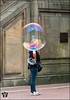 Instant Astronaut (Jack the Hat Photographic) Tags: astronaut bubble funny street candid woman centralpark nyc newyork head timing timed olympus penf 12100mm usa