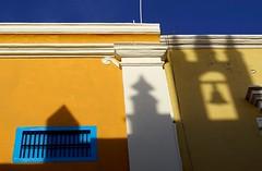 Same, same but different (rräubertochter) Tags: campeche yucatán mexico unescoworldheritag shadows schatten türme gelb blaue