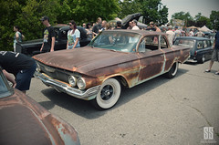 Wide Whites (shuffdad) Tags: whitewalls patina chevy cars carshow beatersville kentucky nikon hotrod kustom