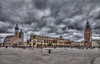 Krakow old town square (Vagelis Pikoulas) Tags: krakow poland travel photography landscape city cityscape november autumn 2017 dramatic sky clouds cloudy canon 6d tokina 1628mm