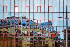 the puzzle ... (miriam ulivi - OFF /ON) Tags: miriamulivi nikond3200 irlandadelnord belfast architecture reflections architettura riflessi edificio building cof021dmnq