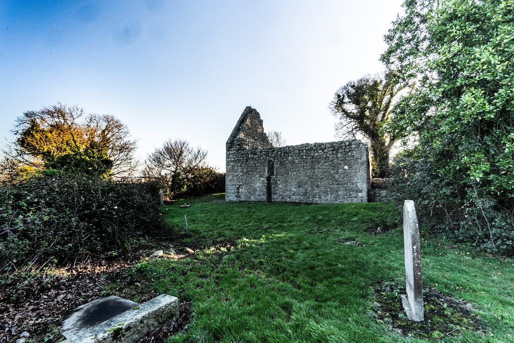 ANCIENT CHURCH AND GRAVEYARD AT TULLY [LAUGHANSTOWN LANE NEAR THE LUAS TRAM STOP]-134590