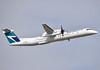 WestJet Encore   Bombardier Dash 8 Q400 (gdd814) Tags: calgary airport aviation airliner spotting cyyc yyc nikond3300 55300mm takeoff westjet encore bombardier dash8 q400 turboprop regional cfnen