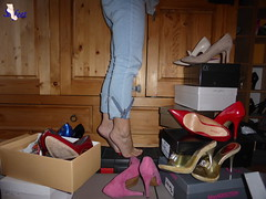 Shoe Closet (Sofeet !) Tags: sofeet sexy pretty bare feet sweet toes high heel shoes pump shoebox shoe closet tippy arched stilettos