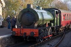 WD 132 ( Sapper ) (Signal Box - Railway photography) Tags: autumn outdoor railway railroad ukrailway avonvalleyrailway steamgala steamtrain engine locomotive bitton station wd 132 sapper hunslet 060st