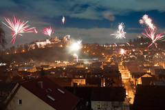 Silvester in Heidenheim (juergenlink13) Tags: feuerwerk nacht schlossblick silvester heidenheim firework night