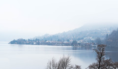 Wrapped in clouds (Aresio) Tags: lagodorta ortalake italy piemonte clouds water