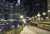 Chicago NYE 2017 street pic19 (Artemortifica) Tags: a6300 canon24mm chicago michiganave nye2017 newyears2018 sony watertower bridge celebration commuters party people street travel winter