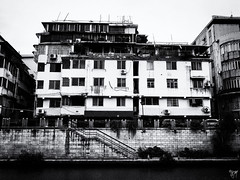 guilin (AlistairKiwi) Tags: china olympus travel omd lijiang river guangxi black white monochrome landscape water sky rock olympus1442mm guilin