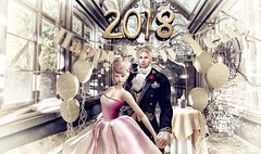 happy new year 2018  from us both (Luca Arturo Ferrarin) Tags: secondlife newyear happiness happy love beautiful elysion couple 2018 january greetings