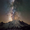 Midnight Hike - The lights on the mountain are night climbers! (Mike Ver Sprill - Milky Way Mike) Tags: mtrainier mount mountain peak mountains range washingtonstate milkywaygalaxy stack tracked blend snow ice nighthikers climber sky stars travel explore astrophotography astronomy nightscape chaser universe space beautiful seattle lightpollution nature landscape rocky rocks steep