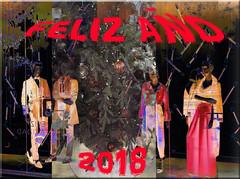 Feliz 2018 (seguicollar) Tags: imagencreativa photomanipulación art arte artecreativo artedigital virginiaseguí navidad finaño feliz2018 fiesta escaparate maniquís árbol