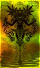 Ganja Goddess, with a dirty glass bong look, (Tafoyovsky) Tags: ganja weed marijuana tree poster art trippy weird design character green dank bong 420 smoke every day snoop