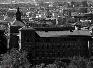Vistas desde la Cúpula de la Almudena. Madrid.