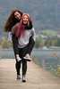 best friends 4 (xfoTOkex) Tags: portrait woman women girl outdoor long hair best friends lake water bridge smile laugh laughing piggyback nikon d800