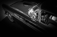 MOTORFEST '17 (Dave GRR) Tags: auto car vehicle vintage classic american black white monochrome chrome interior leather show motorfest canada 2017 olympus omd em1 1240