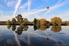 The red balloon (christian.grelard) Tags: red rouge balloon ballon montgolfière river rivière fleuve reflet reflection