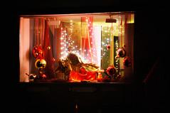 "Day 353/365 - ""Winter lights"" (Little_squirrel) Tags: 365the2017edition 3652017 day353365 19dec17 winterlights lights light lightcreation redandgold decoration shopwindow beautiful christmaslighting christmas angel winter night"