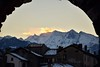 Sunset behind the Mountains (marcoragusa1) Tags: italia italy aosta vda sunset tramonto sky landscape mountain montagna view travel beauty beautiful love reflex house building nikon nikond3300 d3300 snow neve winter inverno nofilter photo photography portrait