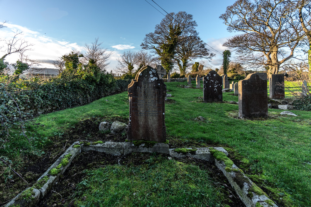 ANCIENT CHURCH AND GRAVEYARD AT TULLY [LAUGHANSTOWN LANE NEAR THE LUAS TRAM STOP]-134570