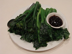 Gai Lan with Oysrer Sauce (knightbefore_99) Tags: pelican asian dimsum food lunch tasty chinese cantonese eastvan vancouver best hastings oyster sauce green leafy gailan great