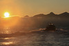 Midnight sun eagle safari (Dan Österberg) Tags: lofoten midnight midnightsun sunset safari water sea fjord boat mountains fog norway waves