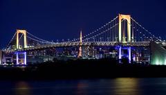レインボーブリッジ Rainbow bridge (ELCAN KE-7A) Tags: 日本 japan 東京 tokyo 台場 daiba レインボー rainbow ブリッジ bridge 東京タワー tower イルミネーション ライトアップ illumination ペンタックス pentax k3ⅱ 2017