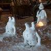 Snowmen (Mika Lehtinen) Tags: snowman snow snowmen dark winter snögubbe snögubbar handstand finland