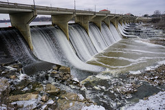 The Frozen O'Shaughnessy Dam & Bridge (Paul McCarthy99) Tags: dam frozen columbus ohio 7dwf