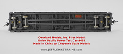 OMI 3360 1 UP Power Test Car 403 Pilot Model One of Two Made (Twin Ports Rail History) Tags: jeff lemke trains inc brass model train service pro professional custom painting repairs weathering railway railroad paint ho scale omi overland models union pacific diesel locomotive painted cheyenne company