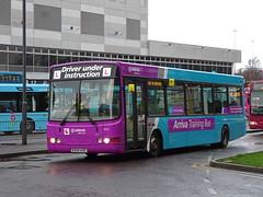 Arriva trainer 9550 Derby (Guy Arab UF) Tags: arriva midlands driver trainer 9550 kx54ave vdl sb120 wright cadet derby bus station derbyshire training buses 3729 mk metro 59