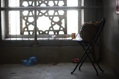 THE SMOKING CORNER (N A Y E E M) Tags: chair bag billingham window light noon hotel makkahclockroyaltower mecca makkah ksa saudiarabia availablelight sooc raw unedited untouched