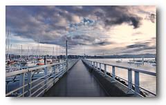Blissful solitude (lp_alain) Tags: nikon ngc nikkor sky cloud bretagne brest brittany bzh beautiful bridge bateau