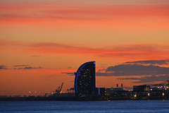 Sunset - Barcelona (cpcmollet) Tags: sunset barcelona catalonia catalunya europe europa capvespre atardecer w hotel vela sky beauty arquitectura silueta architecture color view vista skyline