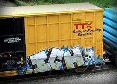 ICH (timetomakethepasta) Tags: ich ichabod yme 63 freight train graffiti art ttx tbox boxcar benching selkirk new york