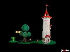 Peach's Tower (jtooker2) Tags: mario tower lego moc mushroomkingdom goomba spiny pipe tree cccxv