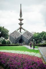 228 Peace Park (michellerlee) Tags: stone trees memorial flowers taipei park grass taiwan sculpture 228peacepark vancouver bc canada