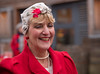 Red lady (Nikonsnapper) Tags: leica m10 summicron 90mm bristol colour red flower pearls street ssgreatbritain