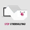 Stop cyberbullying (Nadia Snopek) Tags: victim millennial generationz public shame punishment humiliate mockery cyberbullying internet abuse addiction technology vector socialmedia socialnetwork negative feedback haters flow screen user danger browser window hunting beast monster digital attack network aggression harassment hate jaws devil pursuit chase virus hackerattack offensive cascade shaming blaming laptop trolling swear scold gossip rumors