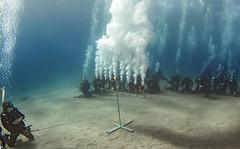 16dec10a (KnyazevDA) Tags: disability diver diving disabled handicapped underwater redsea hanukkah hanukah menorah lights candles israel eilat etgarim cmas amputee paraplegia paraplegic